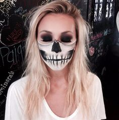 Half Skull Lower Face | 10 Spooky Skeleton Makeup Ideas You Should Wear This Halloween