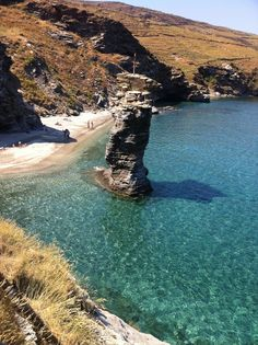 Korthi, Andros, Greece - Grias Pidima beach Beautiful Islands, Beautiful Places, Andros Greece, Places To See, Places Ive Been, Greece Islands, Greece Travel, Crete, Narnia