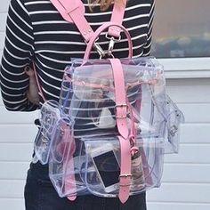 Mochila transparente Handmade Handbags & Accessories - http://amzn.to/2ij5DXx