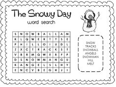 Retelling and Sequencing The Snowy Day. Kindergarten and