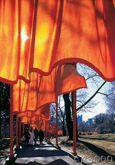 Christo und Jeanne-Claude - The Gates Nr.51 von W. Volz