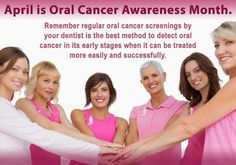 April is Oral Cancer Awareness Month. Remember regular oral cancer screenings by your dentist is the best method to detect oral cancer in its early stages when it can be treated more easily and successfully.  Google+