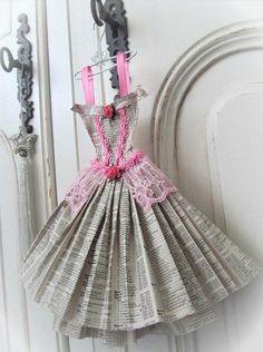 Cute idea. folded newsprint dress