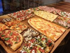 Think you experienced real pizza before going abroad? Think again! Pizza by the slice is a ubiquitous street food in Rome, and in some venues it has become an art form.