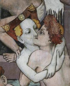 , Couple, Embrace, Embracing, Kissing, Medieval, Middle Ages
