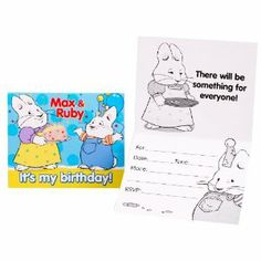 Max & Ruby Invitations (8 count) Party Accessory by Party Destination. $7.99. Package includes (8) invitations (with envelopes)