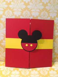 25 Mickey Mouse gatefold birthday by PaperDivaInvitations on Etsy, $95.00