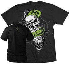 SRH #Grit T-Shirt Men's Black Graphic Tee Screen Print Front Skull & Spade Art #SRH #GraphicTee