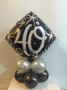 """18"""" table topper  #40thbirthday #partyshop #decorations  #balloons http://www.celebrationsnsw.com"""