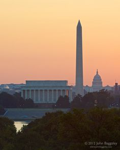 Daybreak on Washington D.C.  // by baggaley via Flickr