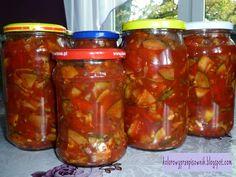 Kolorowy Przepisownik: Słodko-kwaśny sos z cukinii i papryki - w słoiki