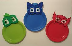 PJ Masks Plates by LilShopofJoy on Etsy