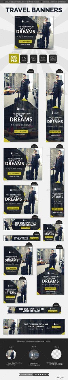Travel Banner Template #design #ads #web Download: http://graphicriver.net/item/travel-banner/12473319?ref=ksioks
