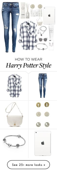 """""""hey"""" by ninaclay on Polyvore featuring H&M, Pandora, Apple, Casetify, Blanc & Eclare, Baronessa Cali, NARS Cosmetics and Mulberry"""