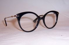 NEW GUCCI EYEGLASSES GG 0109O 001 BLACK GOLD 50mm RX AUTHENTIC 0109  | eBay