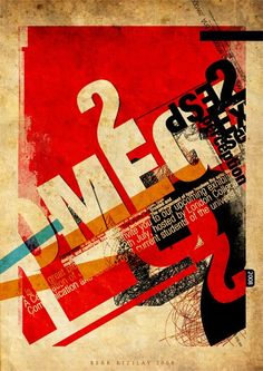 Typographic texture on poster by Berk Kizilay