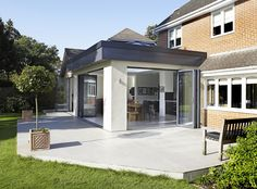 Orangery Kitchen Extension by Architecture in Glass by AproposUK House Extension Design, Extension Designs, Glass Extension, Roof Extension, Extension Ideas, Large Open Plan Kitchens, Open Plan Kitchen Diner, Open Plan Kitchen Living Room, Open Plan Living