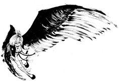 〈鴉〉 私は私のために飛ぶ 筆特訓肆拾陸