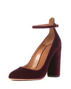 alix velvet 105mm pump ruby red womens size 12b42eu aquazzura