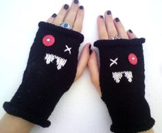 Ugly Vampire Mittens