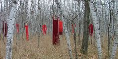 Jaime Black, a Metis artist from Winnipeg, created The REDress Project five years ago. It collects red dresses from the community and hangs them in public spaces as a visual reminder of to represent the country's missing and murdered indigenous women.