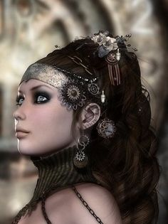I love the hair accessories used here - simply gorgeous effect.