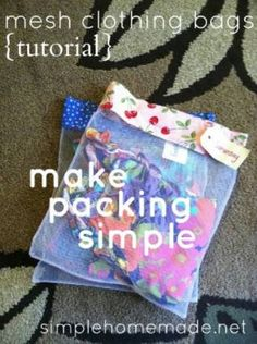 Traveling Organization- organza bags are great too, and cheap to buy