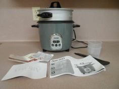 RICE COOKER & FOOD STEAMER. DIGITAL, 14 CUP, AROMA, GREY COLOR, NEW
