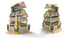 Îlot - Corona Pos Display, Display Design, Booth Design, Display Shelves, Pos Design, Retail Design, Carton Design, Market Displays, Flower Stands