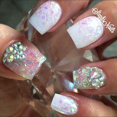 Stephanie Loesch @_stephsnails_ #clearnails#iride...Instagram photo | Websta (Webstagram)