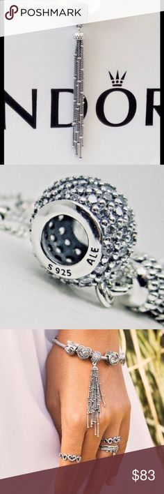b4f1b1a4a Authentic Pandora Tassel Pendant Charm Beautiful Pendant Can Be a Necklace  Or You Can Put On