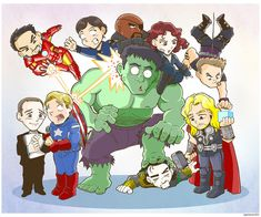 Avengers Family Portrait by Saturn-Kitty........ S.H.I.E.L.D. rarely organizes team portraits anymore...