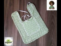 How to Crochet a Baby Bib Free Pattern - YouTube
