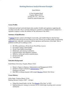 resume business analyst banking builder best samples for free cover letter sample template - Sample Cover Letter For Resume