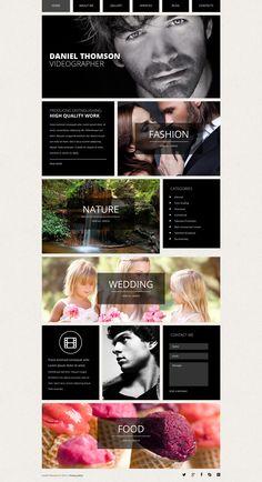 'Daniel Thomson' #webdesign for #Joomla 3 Template http://zign.nl/50983