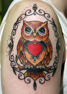 Owl Sailor jerry tattoo - Google Search