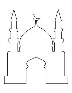Use the printable outline for crafts, creating stencils, scrapbo Mosque pattern. Use the printable outline for crafts, creating stencils, scrapbo… Eid Crafts, Ramadan Crafts, Ramadan Decorations, Diy And Crafts, Decoraciones Ramadan, Ideas Scrapbook, Ramadan Lantern, Jasmine Party, Islam For Kids