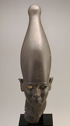 Head of a pharaohca. 2675-2130B.C.E. Old Kingdom (Dynasty 5 or 6) Stone and copperH: 73.0cmEgypt