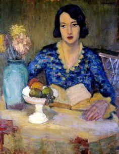 Portrait of Artist's Wife - Pronaszko Zbigniew, 1935 Polish, 1885-1958 oil on canvas, 91 x 70 cm.