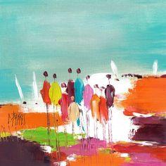 L'oeuvre unique et originale Spectacle a été réalisée par l'artiste Christine Barres, qui conçoit des paysages et des uvres figuratives très colorées en travaillant la peinture à l'huile au couteau.