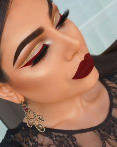 160 burgundy makeup look ideas – page 1 Makeup Looks For Brown Eyes, Makeup Eye Looks, Eye Makeup Steps, Eye Makeup Art, Fall Makeup, Eyeshadow Makeup, Makeup Lips, Crazy Makeup, Glitter Eyeshadow
