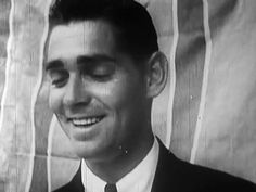 The earliest known shot of Clark Gable, taken when he was an extra.