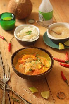 Moqueca de peixe com pirao / Poisson au lait de coco et purée de manioc / Fish with coconut milk and mashed cassava