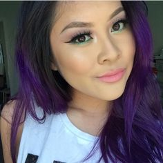 Absolutely love this gorgeous girl @jlinhh doing the full mermaid with that gorgeous purple hair, green liner and soft pink lips and our Vantiy lashes! Hair and makeup details below: Fresh purple. Dyed it myself using @pravana hair dye. Eyes are @loraccosmetics pro palette and @urbandecaycosmetics electric palette, lashes are vanity by @minkwinklashes, lips are @doseofcolors play date lipstick & cotton candy gloss, and brows are @anastasiabeverlyhills taupe brow powder duo.