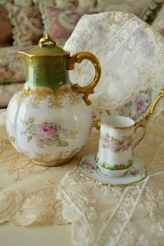so beautiful, a cup of tea representing girlfriends reclining taking time to connect...