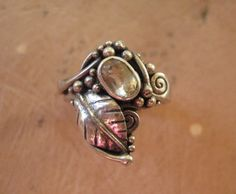 Items similar to Yellow Topaz Art Nouveau Ring on Etsy Topaz Jewelry, Jewellery, Art Nouveau Ring, Unusual Jewelry, Hand Engraving, Filigree, Sterling Silver Rings, Wedding Rings, Pure Products
