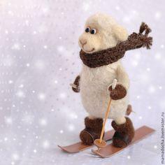 Только вперед! - бежевый,Снег,зима,спорт,лыжи,лыжник,кататься на лыжах