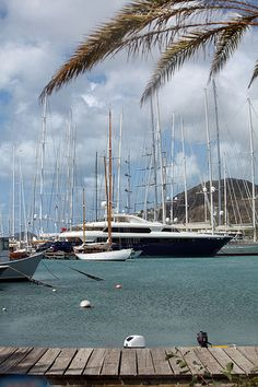 Oh how i love the big water... and a boat! #Antigua