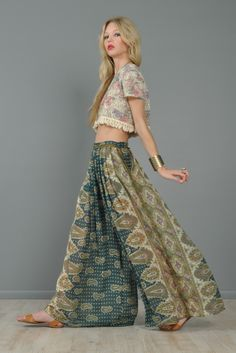 gorgeous. i love these.   Giorgio Sant'Angelo Bohemian Gauze Palazzo Pants | BUSTOWN MODERN