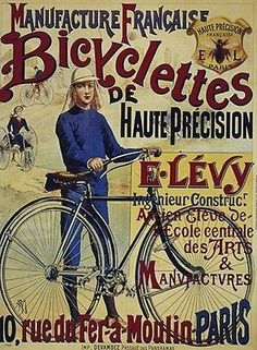 BICYCLE VINTAGE AD POSTER Bicyclettes RARE HOT NEW